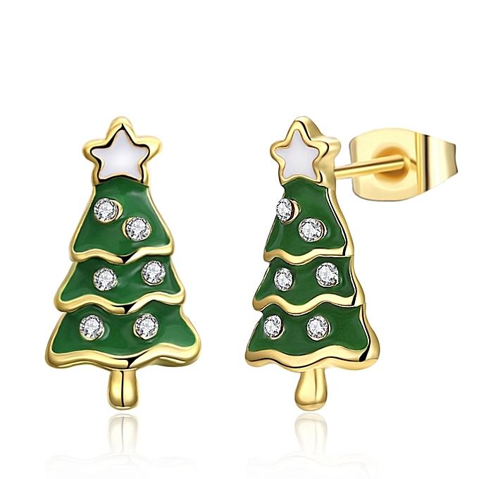 Christmas Tree Star Stud Earrings