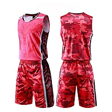 Fashion Customized Blank Kids Boy And Men's Casual Basketball Team Sports Jersey Uniform-Red