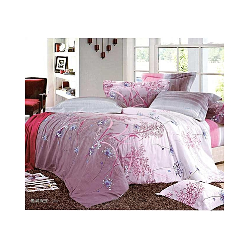 6 X 6 U2013 Floral 1 Fitted Bed Sheet, 1 Flat Bed Sheet And 2