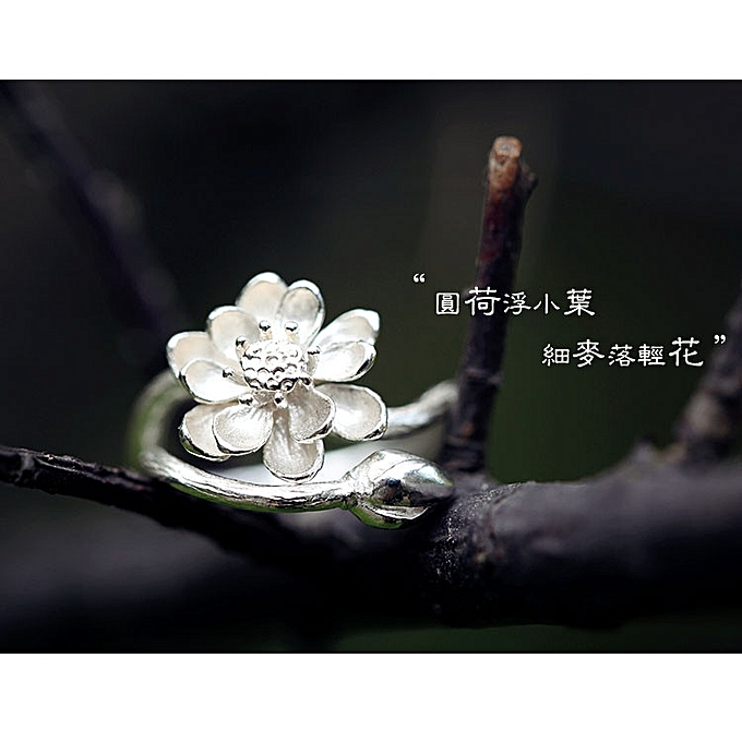 Fashion The S Pure Silver Opens Mouth The Ring Qualities Lotus