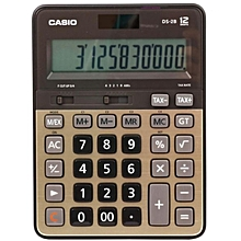 DS2TV - Desk Top Calculator 12 Digit - 2 Way - Black