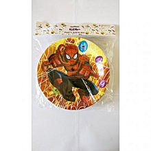 Spiderman party paper plates-10 pieces-multicolored