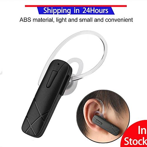 Bluetooth Earphone New Portable Wireless Bluetooth Earphone Stereo Headset Handsfree Earbuds (Black)