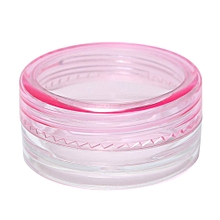 Empty Jar Pot Cosmetic Face Cream Bottle Container Screw Lid Candy Color 3g New Pink
