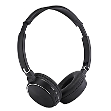 BT - 815 Wireless Stereo Bluetooth V3.0 EDR Headphone with FM Radio TF Card Slot-BLACK