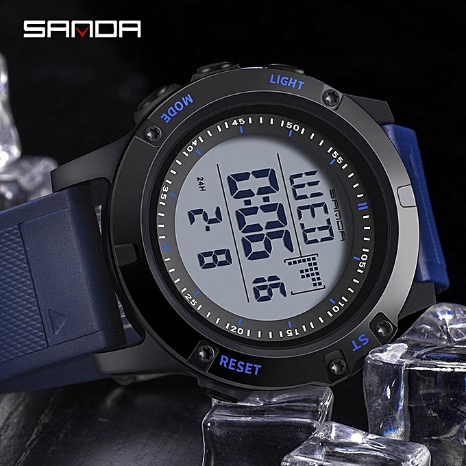 b20c4d5937f ... SANDA Military Countdown Sport Watch Men G Shock LED Digital Watch  Waterproof Electronic Men Watches relogio