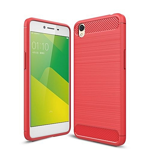 best website 178dd da2e8 OPPO A37 Carbon Fiber TPU Brushed Texture Shockproof Protective Back Cover  Case(Red)