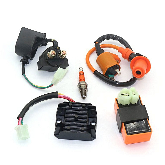 Ignition Coil High Pressure Regulator Rectifier Relay CDI Kit GY6 50CC  125CC black