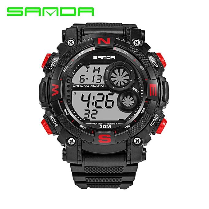 4a36cd5f2ae New Luxury Brand Sanda Men s Watches LED Digital Watch Men Waterproof Shock  Resist Outdoor Sports Wristwatches