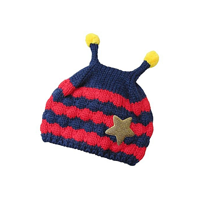 aa0e1ceb845fc Cute Baby Toddler Girls Boys Bees Patten Fur Ball Knitted Winter Warm Hat  Cap NY-