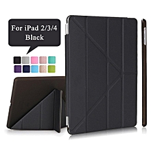 iPad 2/3/4 Case,Ultra Slim Transformers PU Leather Magnetic Cover with Auto Sleep/Wake + PC Matte Hard Back Cover For Apple iPad 2 3 4 CHD-Z