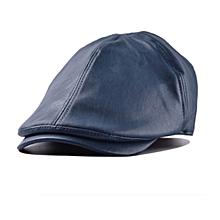 Unisex Leather Lvy Caps Bonnet Newsboy Beret Cabbie Gatsby Flat Golf Hats - Intl