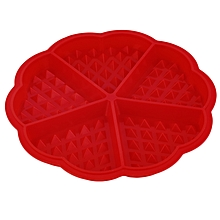 Durable And Safe Muffin Mold Cake Chocolate Baking Pan Silicone Mould Bakeware DIY-Red