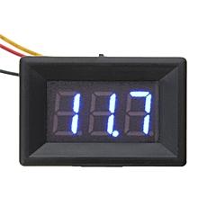 3pcs Blue 0.36 Inch DC 0-30V 3 Wire LED Volt Meterr Digital Display Panel Volt Meterr