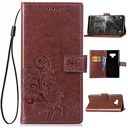 new styles faed6 bfdeb Galaxy Note 9 Case, Galaxy Note 9 Wallet Case, Lucky Flowers PU Leather  Buckle Book Stand Protective Cover with Card Holder Slots and Detachable  Wrist ...