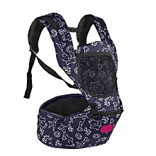 Infant Baby Carrier Hip Seat Breathable Adjustable Wrap Sling Backpack (Blue)