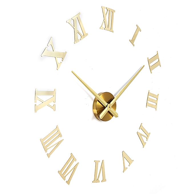 Generic Diy 3d Wall Clock Roman Numerals Large Size Mirrors Luxury