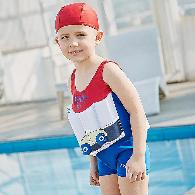 ebf1d6cca1165 ... Boy One-Piece Float Swimsuit + Cap Cute Fashion Swimwear With Removable  Buoyancy Stick Perfect ...