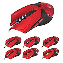 Hot 6D LED Optical USB Wi 3200 DPI Pro Gaming Mouse For Laptop PC Game -Red