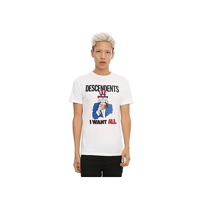 55eef139d4a Men s Fashion Summer T-Shirt DESCENDENTS I WANT ALL UNCLE SAM T-SHIRT Men  Casual T-shirt