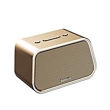 Baseus Bluetooth Speaker Mini Portable Outdoor Wireless Speaker 3D Stereo Music Surround Player (Gold) LJMALL