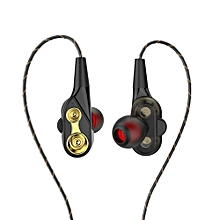Olivaren HIFI In-Ear Super Bass Stereo Earphone Earbuds Headphone Sports Headset With Mic -black