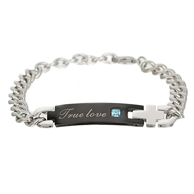 993de2ea52 Couple Bracelets True Love Chain Bracelets Matching Set Valentine's Day  Gifts black