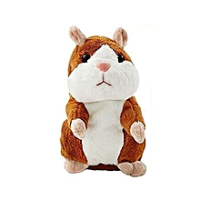 Mimicry Talking Hamster Repeats What You Say Electronic Hamster Mouse - Brown