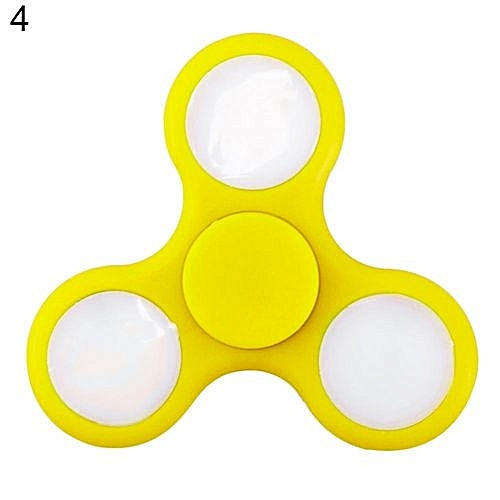 Luminous Glow In The Dark Fidget Toy EDC Hand Finger Spinner Desk Focus Gyro Yellow