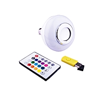 LED Music Bulb Speaker With Bluetooth - White