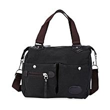 Ladies Canvas Tote Handbag Large Capacity Black