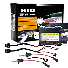 55W 3200LM H1 4300K HID Xenon Bulbs Light Conversion Kit With High Intensity Discharge Slim Ballast, Warm White