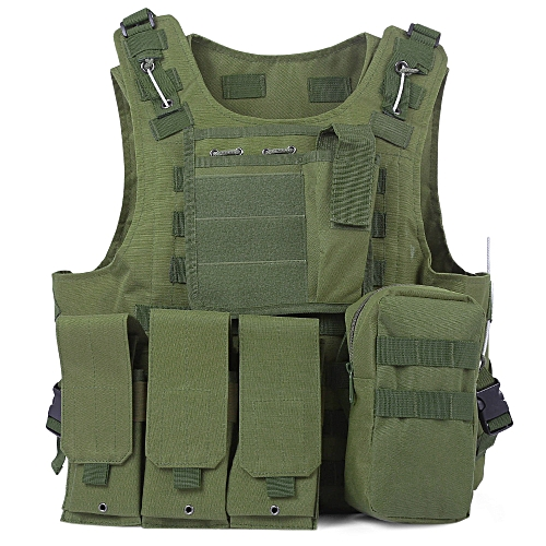 Generic Tactical Military Swat Field Battle Airsoft Molle ComAssault Plate  Carrier Vest - Army Green c646189cddc