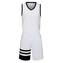 Children And Adults Son And Father Brand Customized Basketball Team Training Sports Jersey-White