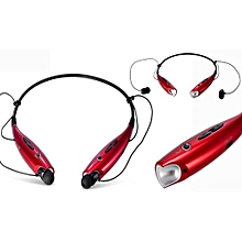 HV-800 Wireless Bluetooth 4.0 Headset Earphone For iPhone For Samsung - Black and Red