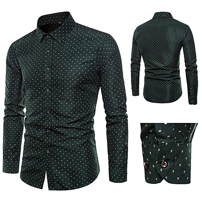 Buy Fashion Africanmall Store Mens Long Sleeve Oxford Formal Casual
