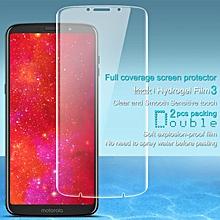 Imak 2pcs Hydrogel Film for Motorola Z3 Play Full Cover Screen Protector