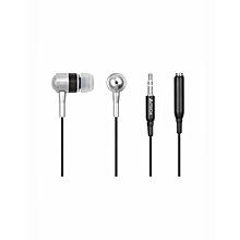 MK-650 Metalic Earphone - Silver & Black