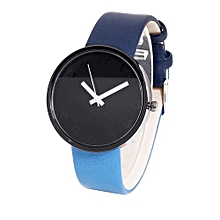Technologg Watch  Women's Watch Men's Watch Glass Round Skin Strap Alloy Quartz Lovers Watches-Black