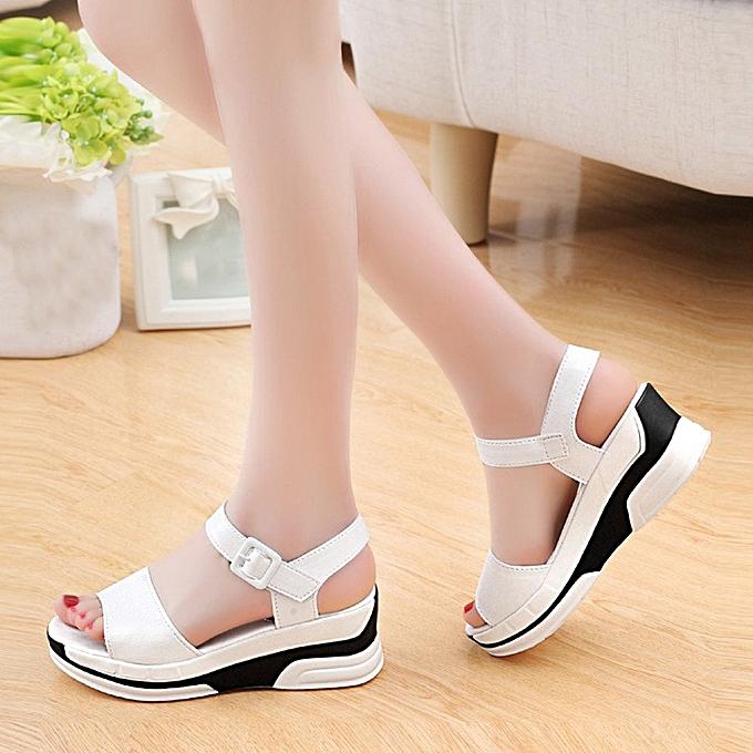 2ef5e94aaea5a ... Xiuxingzi Women s Summer Sandals Shoes Peep-toe Low Shoes Roman Sandals  Ladies Flip Flops ...