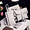 New Women Four Set Fashion Handbag Shoulder Bag Four Pieces Tote Bag Crossbody Wallt