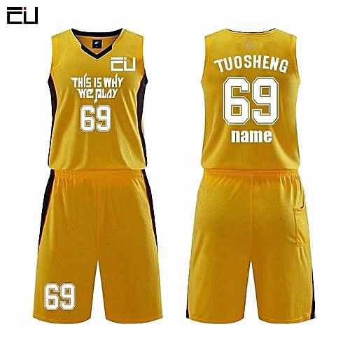 d3b12b036 Longo Customized Name Number Men s Basketball Team Sport Jersey Uniform -Yellow(MDS-1702)