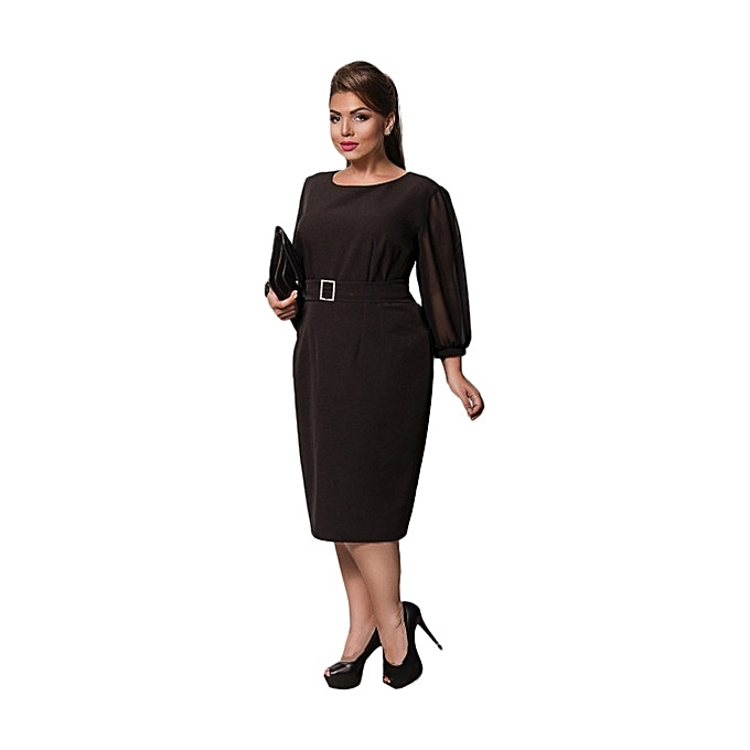 8b62f250f96 New arrivel Large Size Dresses For OL Ladies Business Office Dresses Wear  To Work Elegant Pice