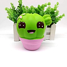 Squishy Cute Cactus Jumbo Soft Slow Rising Squeeze Pressure Relief Kawaii Toy