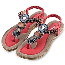 5b3311dfac20 SIKETU Bohemia Rhinestone Design Slip On Beach Women Flip-flop Sandals
