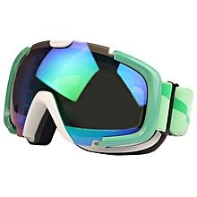 Sg-173 Double Replacement Anti-uv Anti-fog Lens Skate Ski Snowboard Goggles With Adjustable Non-slip Strap(green)