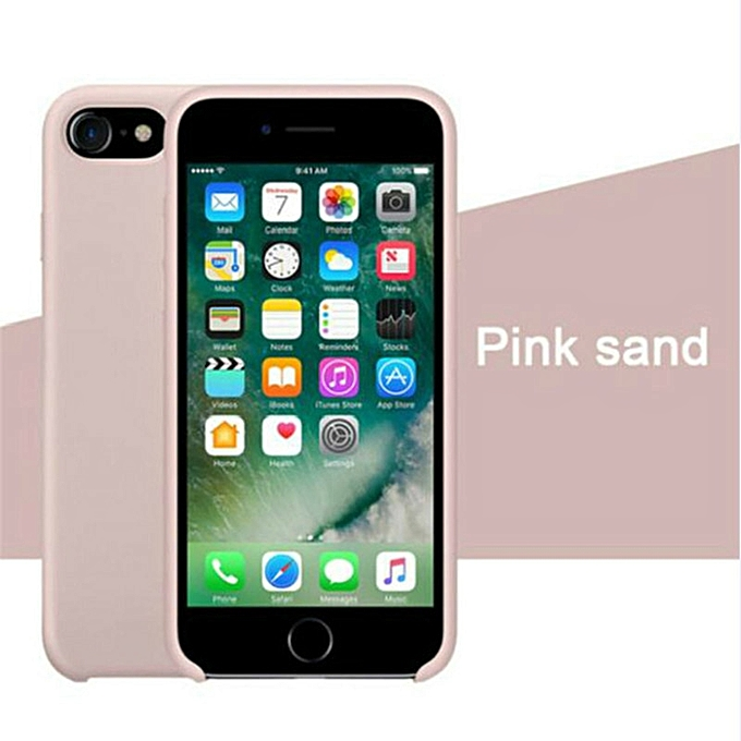uk availability 4648c 74cad for iPhone 6 6S Plus phone case Have LOGO Official Style Silicone Case For  apple Cover Capa-PinkSand
