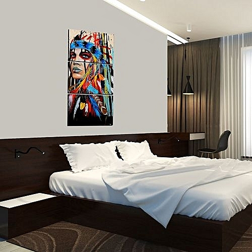 Buy Generic 48 Pieces Canvas Art American Indian Canvas Feathered New Bedroom Suites Online Painting