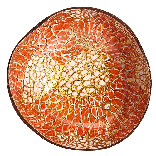 Generic Natural Coconut Shell Bowl Dishes Mosaic Handmade Kitchen