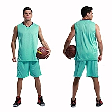Men's Customized Team Basketball Sport Jersey Shirts And Shorts Set-Green(MB-2888)